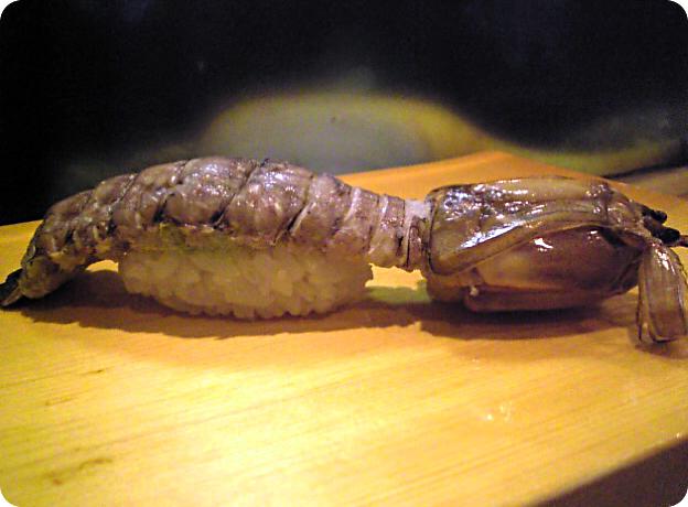 shako (mantis shrimp) @ sushikuni sushi-ya (osaka, japan)